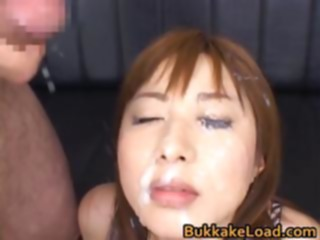 Asian Honey Kokomi Naruse is Getting part6 asian bukkake cumshot