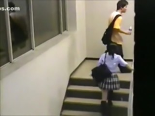 Voyeur busts a japanese student riding a teacher on campus !!! voyeur asian japanese
