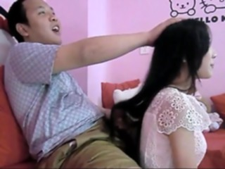 Hot Chinese Hairjob 6 chinese straight asian