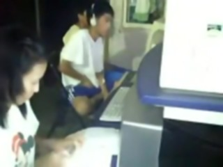 Crazy asian guy masturbates in a cybercafг©. like a boss !!! voyeur masturbation asian
