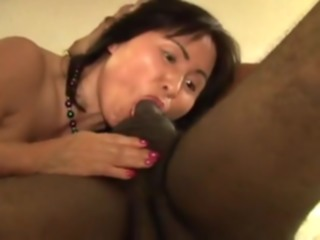 Oriental Mother I'd Like To Fuck acquires screwed by 2 darksome men. asian interracial threesome