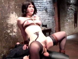 Little Asian slave is strapped amateur asian bdsm