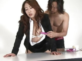 Brunette slut rides cock with her panties in her mouth blowjob brunette sex toy