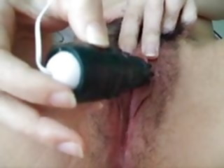 Hairy Asian big clit masturbation..Kyd!!! asian fingering big clit