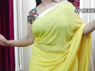 SP Yellow saree asian bbw mature