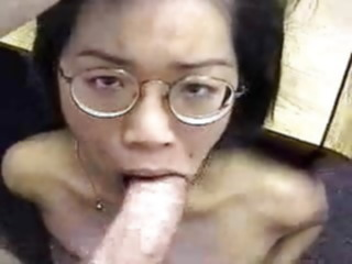 Nerdy Submissive asian slut sex casting for the first time amateur asian interracial
