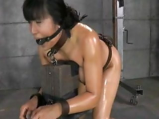 Oiled Asian bound and bred asian hardcore bdsm