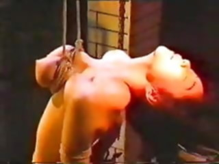 Japanese Girl is Brutally Tortured and Suspended By Her Breasts asian tits bdsm